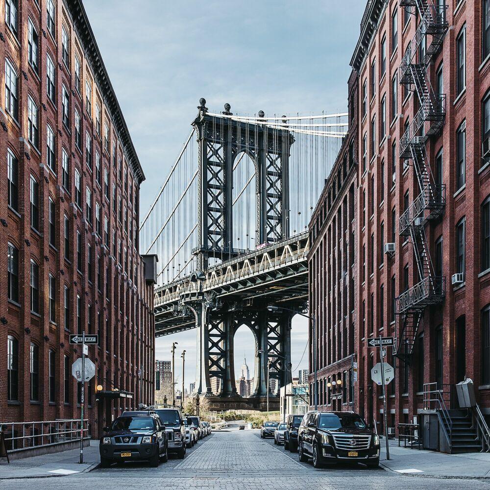 Photographie MANHATTAN BRIDGE OVER EAST RIVER - GUILLAUME DUTREIX - Tableau photo