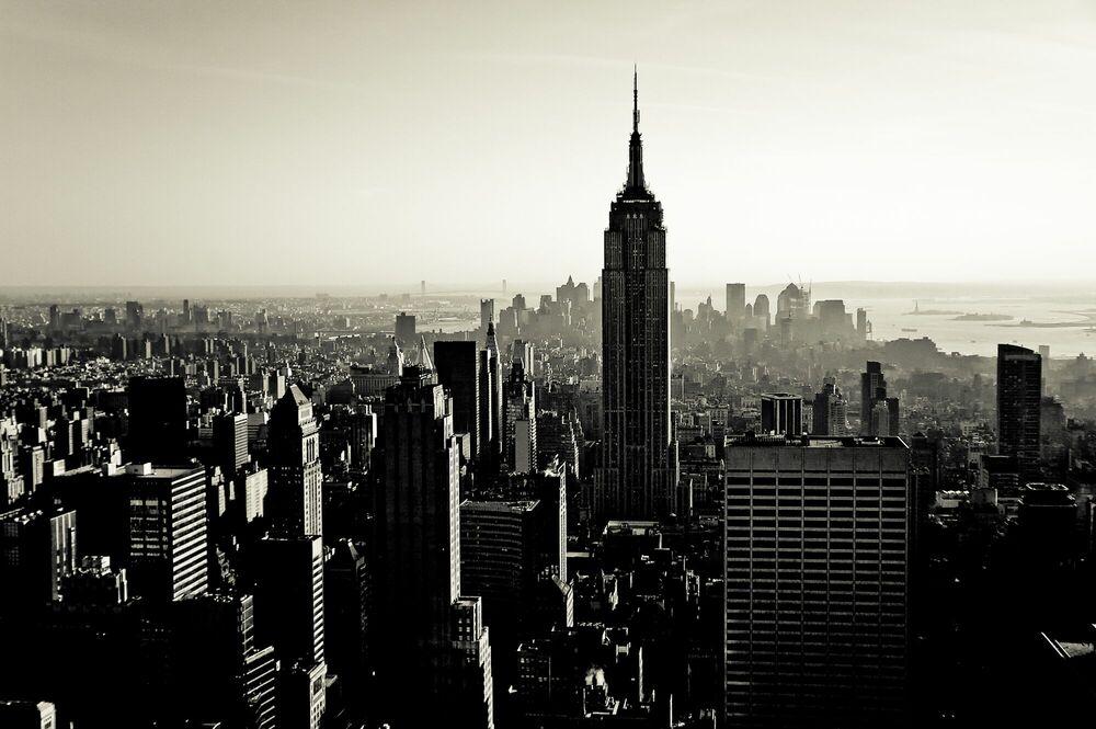 Fotografía Coucher de soleil sur Manhattan - GUILLAUME GAUDET - Cuadro de pintura