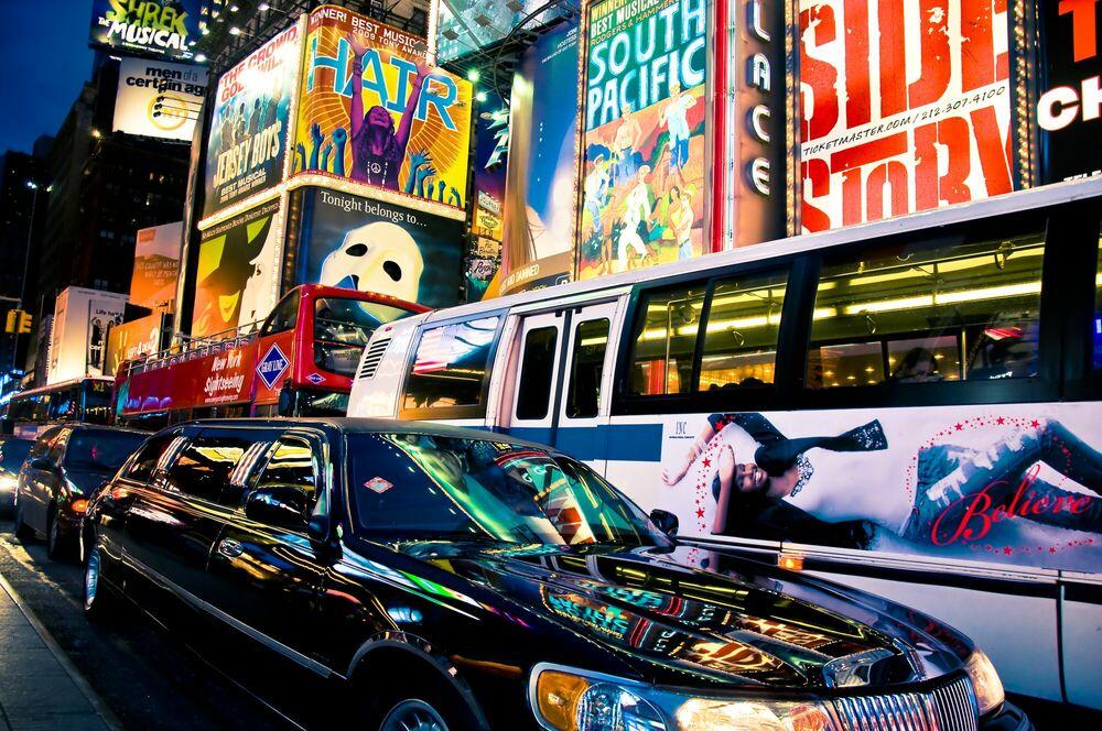 Fotografie Reflets sur Broadway - GUILLAUME GAUDET - Bildermalerei