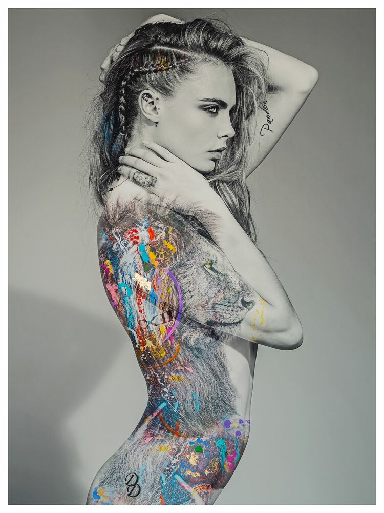 Fotografía CARA LION -  I'M NOT A TROPHY - Cuadro de pintura