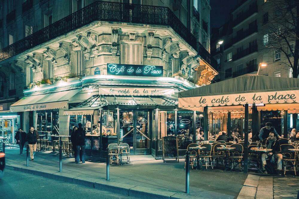 Fotografía Le café de la place Montparnasse -  JACK AND LUNA - Cuadro de pintura