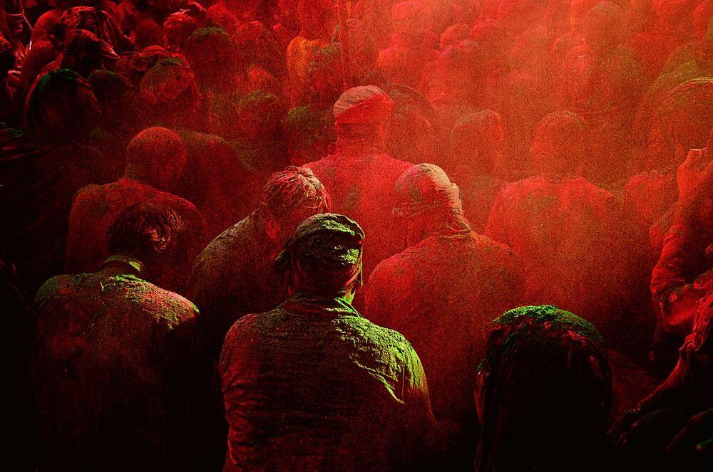 Kunstfoto Shimmer of Joy - JAGJIT SINGH - Foto schilderij