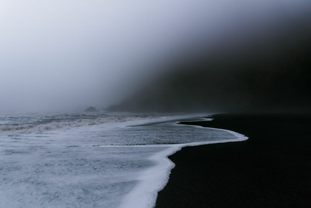 Fotografie BLACK SAND BEACH OF VIK-ICELAND - JAN ERIK WAIDER - Bildermalerei