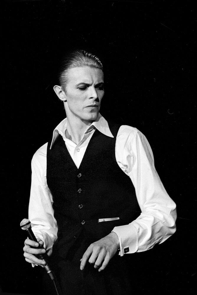 Photographie David Bowie, London 1976 - JAN WERNER - Tableau photo