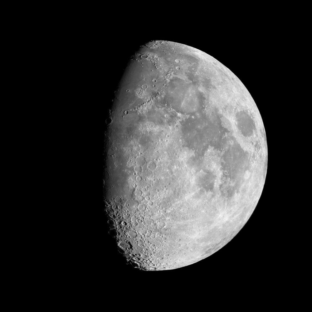 Photographie Lune gibbeuse - JEAN-MARC LECLEIRE - Tableau photo