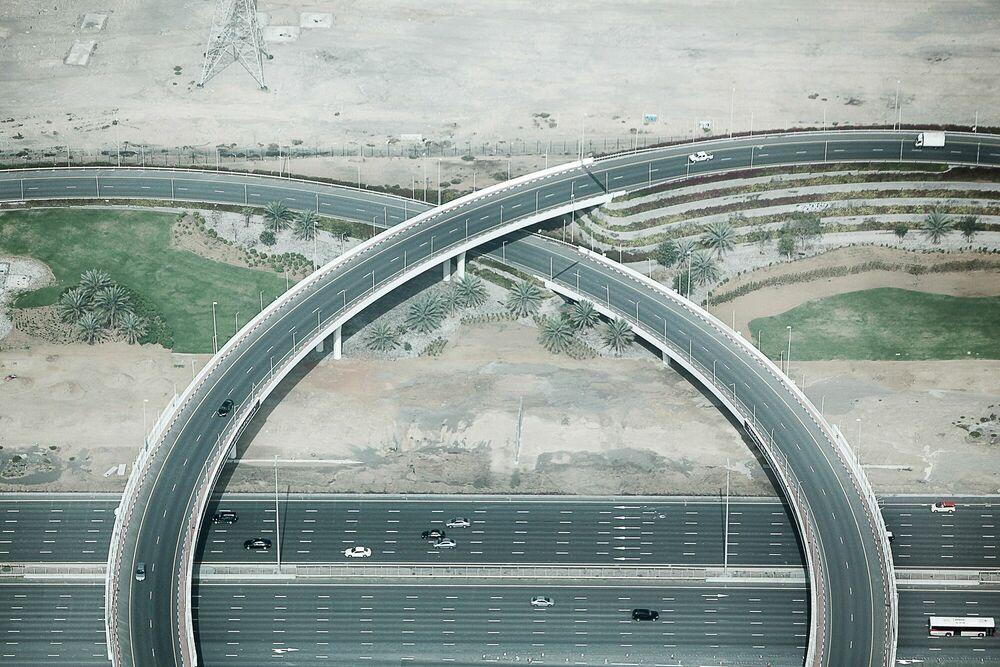 Fotografia Highway interchange - JEAN-PHILIPPE CARRE-MATTEI - Pittura di immagini