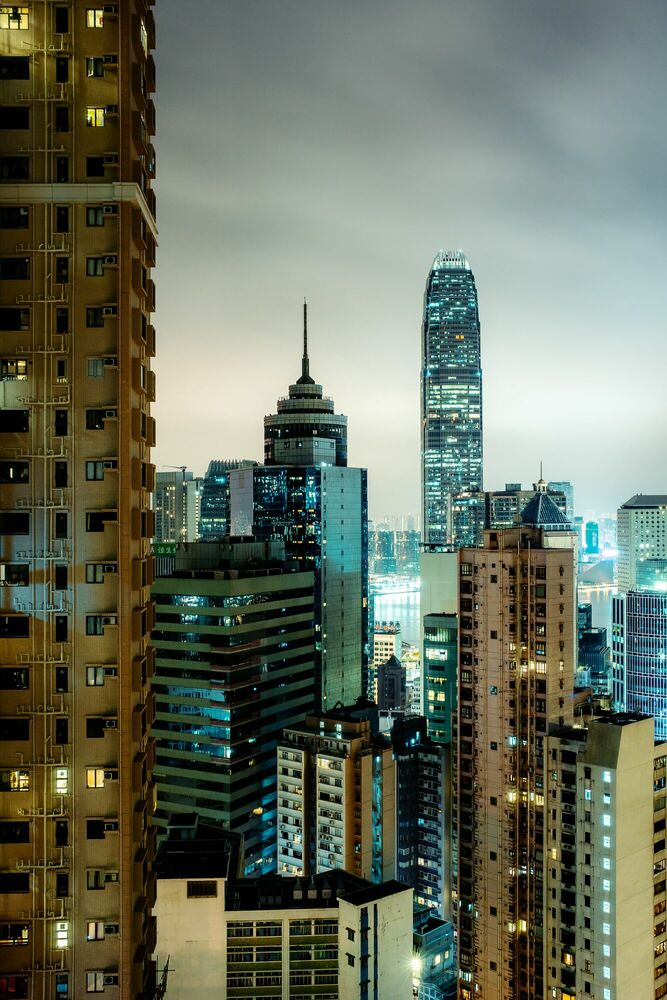 Fotografia HONG KONG NIGHT II - Jörg DICKMANN - Pittura di immagini
