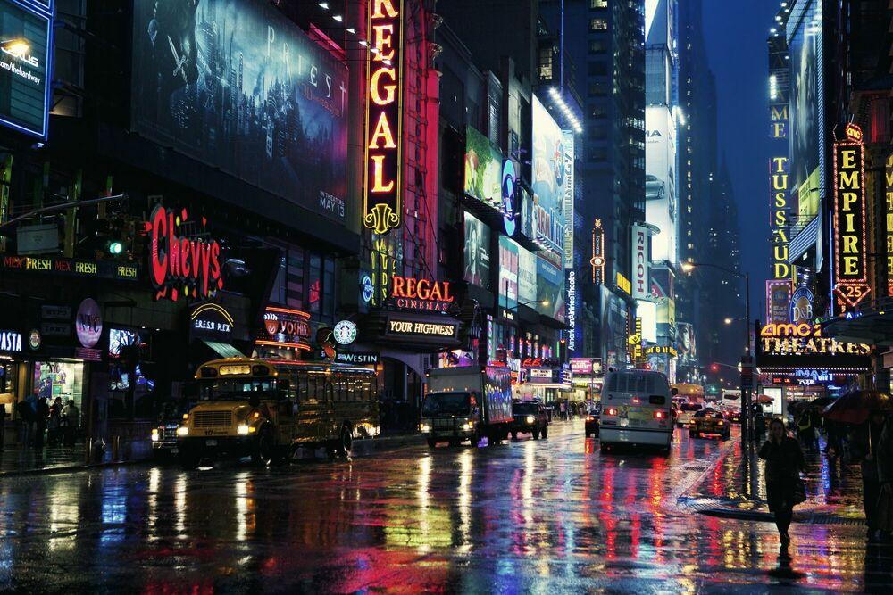 Photograph Rainy Manhattan Night - Jörg DICKMANN - Picture painting