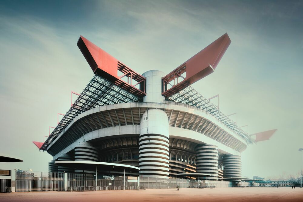 Photograph Stadio Giuseppe Meazza - Jörg DICKMANN - Picture painting
