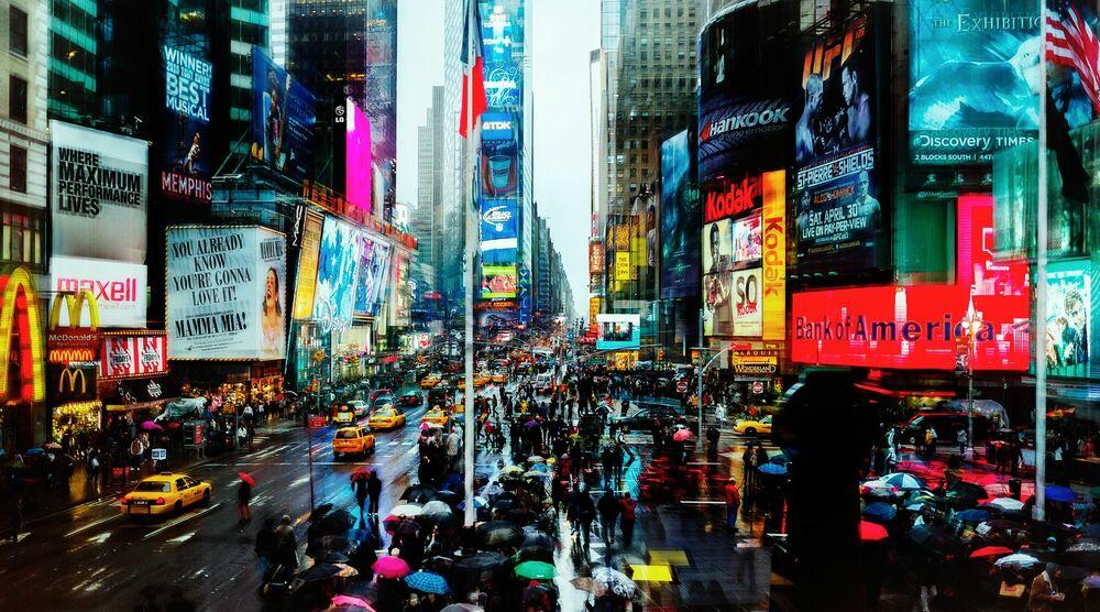Photographie Times Square II - Jörg DICKMANN - Tableau photo