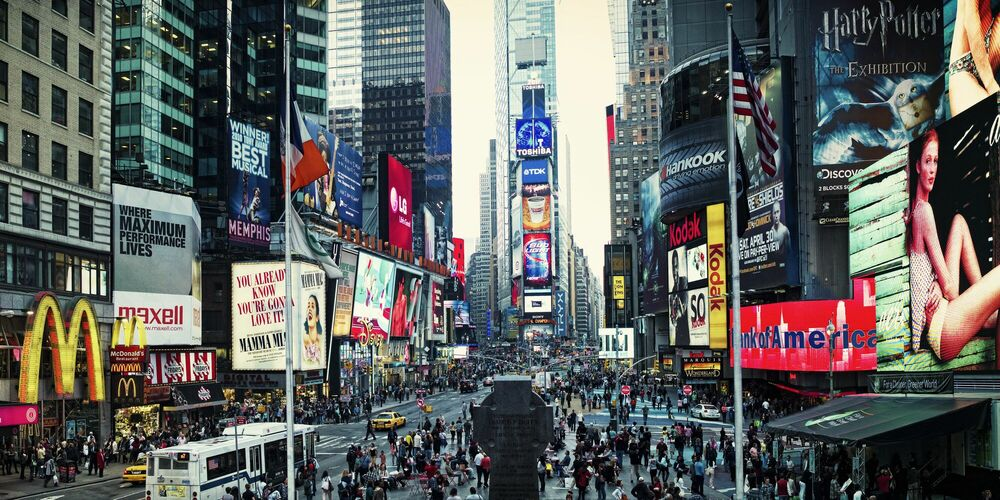 Photograph Times Square - Jörg DICKMANN - Picture painting