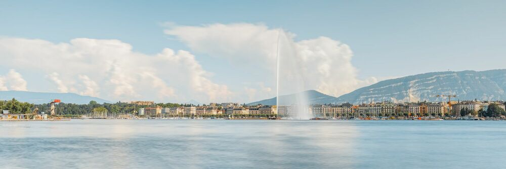 Photograph Geneve Skyline - JULES VALENTIN - Picture painting
