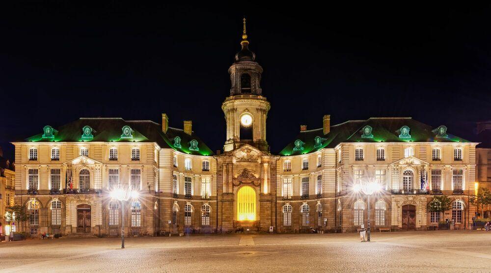 Fotografie HOTEL DE VILLE DE RENNES - JULES VALENTIN - Bildermalerei
