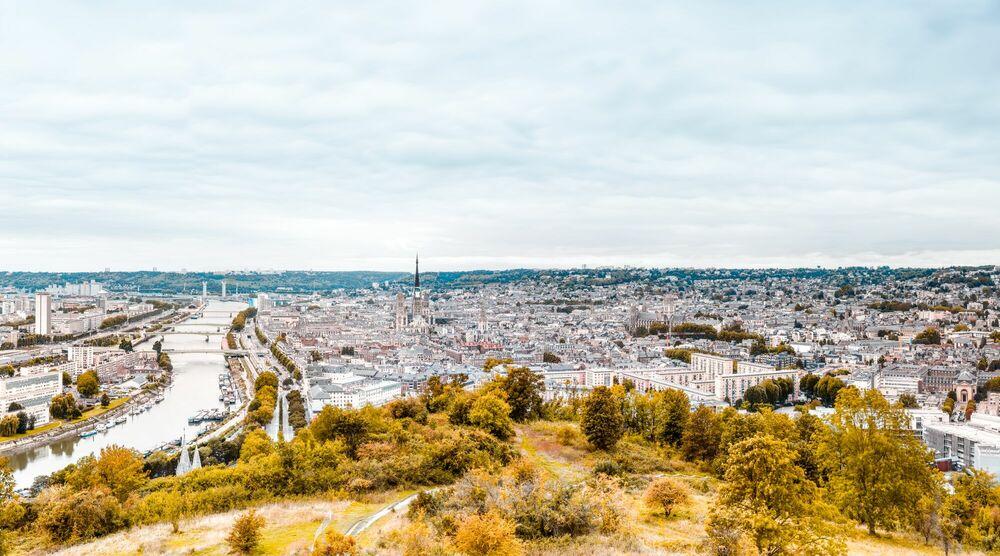 Photograph Rouen Skyline - JULES VALENTIN - Picture painting