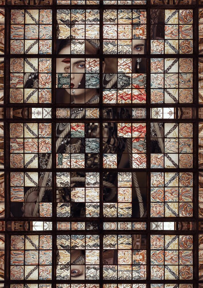 Kunstfoto MAYA - JULIAN SCHIEVELKAMP - Foto schilderij