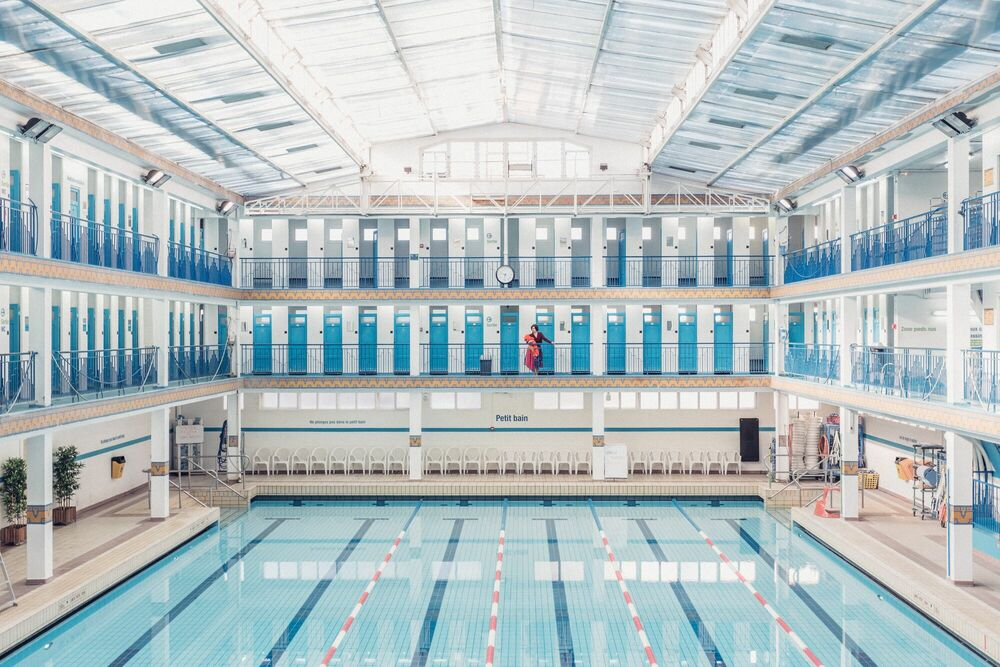 Photograph SWIMMING POOL 5 - JULIEN TALBOT - Picture painting