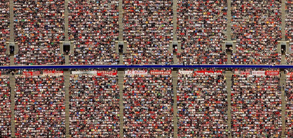 Photographie Soccer fans - KLAUS LEIDORF - Tableau photo