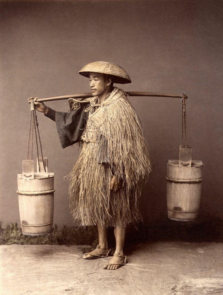 Fotografia Porteur d'eau, vers 1885 - KUSAKABE KIMBEI - Pittura di immagini