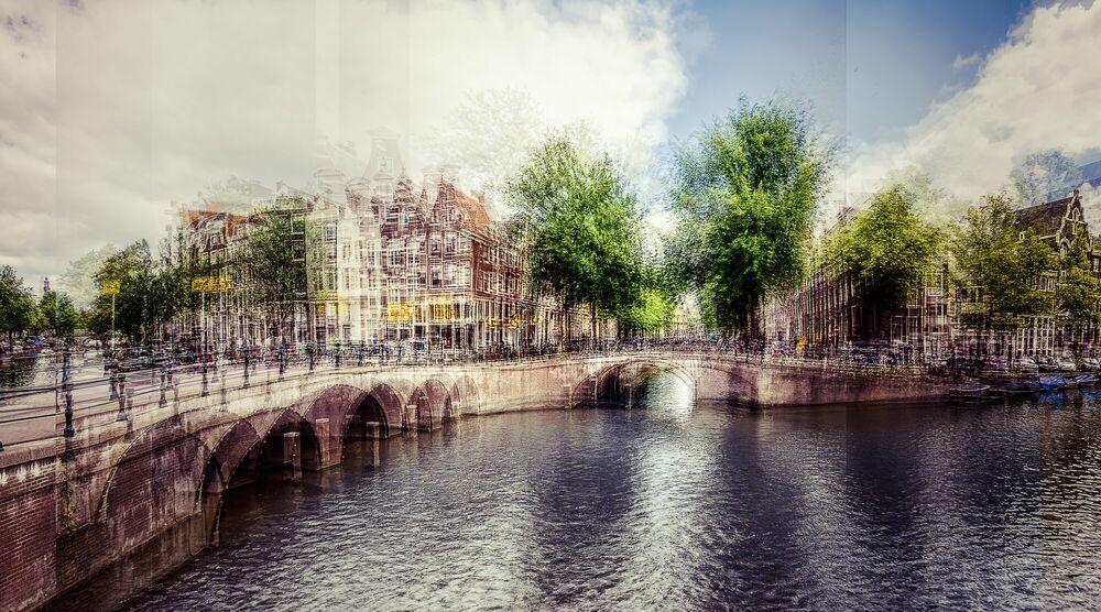 Photograph AMSTERDAM - DE HOEK VAN LEIDSEGRACHT I - LAURENT DEQUICK - Picture painting