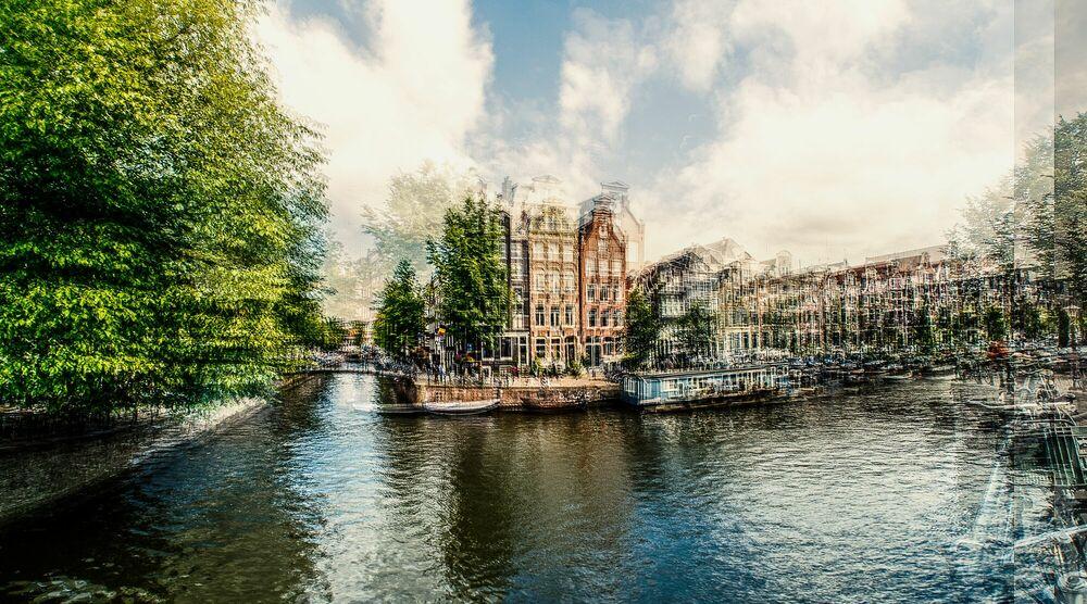 Photograph AMSTERDAM - OP DE HOEK VAN BROUWERSGRACHT - LAURENT DEQUICK - Picture painting