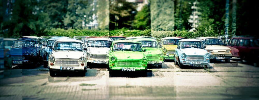 Fotografie Berlin Trabant - LAURENT DEQUICK - Bildermalerei