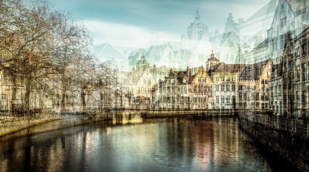 Fotografie BRUGES CANAL - LAURENT DEQUICK - Bildermalerei