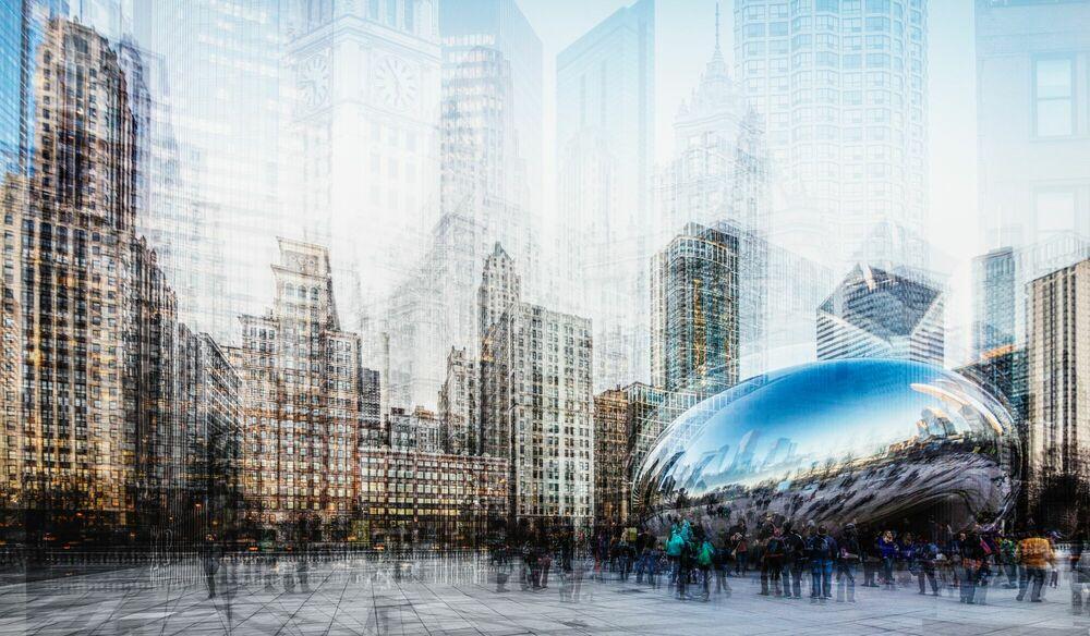 Photograph CHICAGO CLOUD GATE - LAURENT DEQUICK - Picture painting