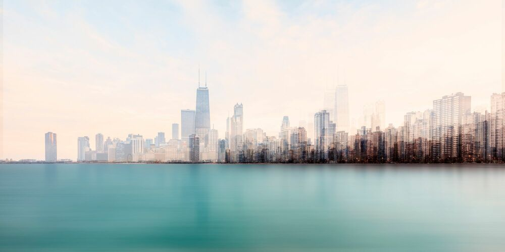 Photographie CHICAGO FROM THE LAKE - LAURENT DEQUICK - Tableau photo
