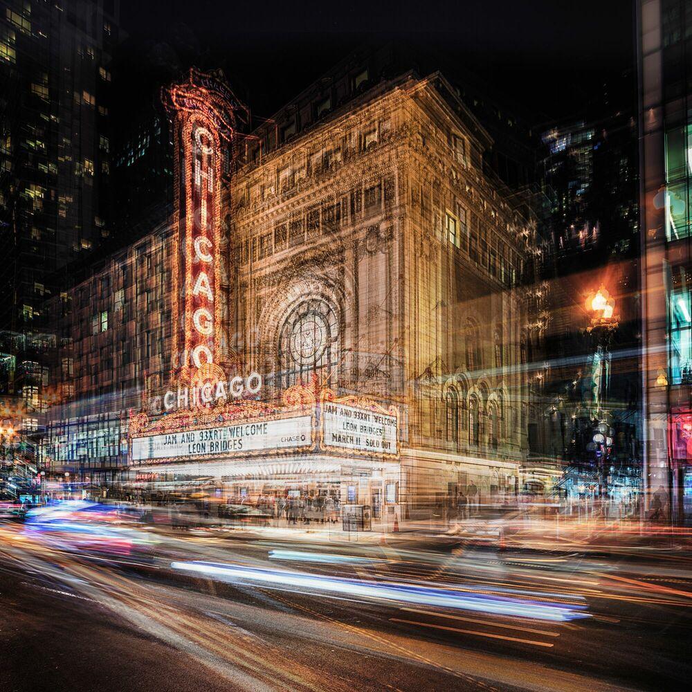 Fotografie CHICAGO THEATER - LAURENT DEQUICK - Bildermalerei