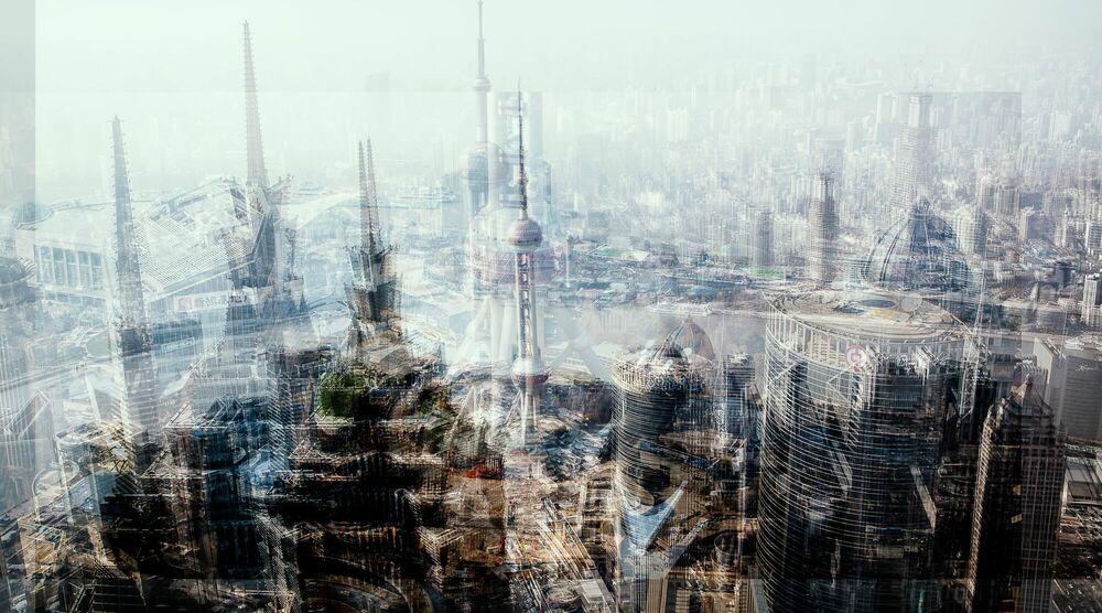 Fotografie CRAZY SHANGHAI - LAURENT DEQUICK - Bildermalerei