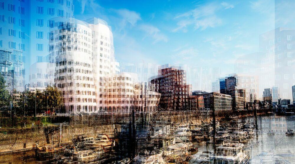 Fotografia Düsseldorf Neuer Zollhof III - LAURENT DEQUICK - Pittura di immagini