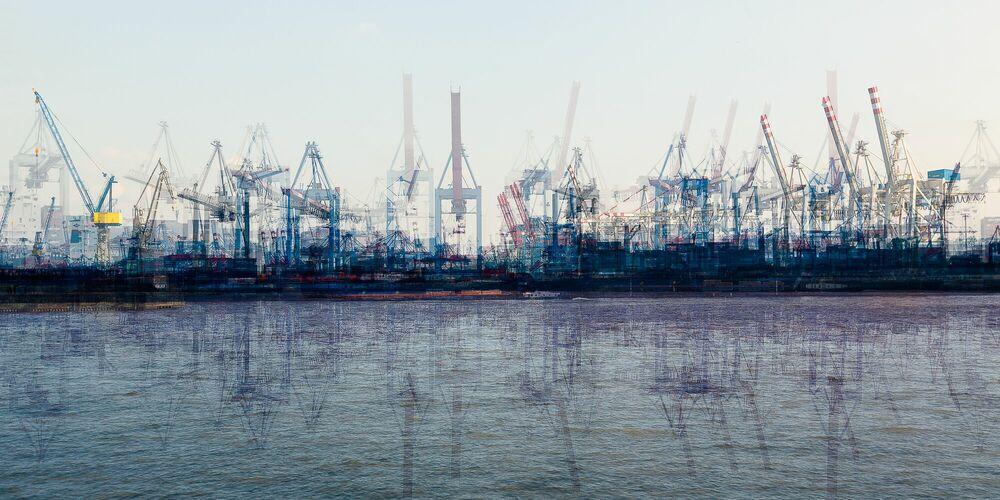 Fotografie Hamburg container terminal - LAURENT DEQUICK - Bildermalerei