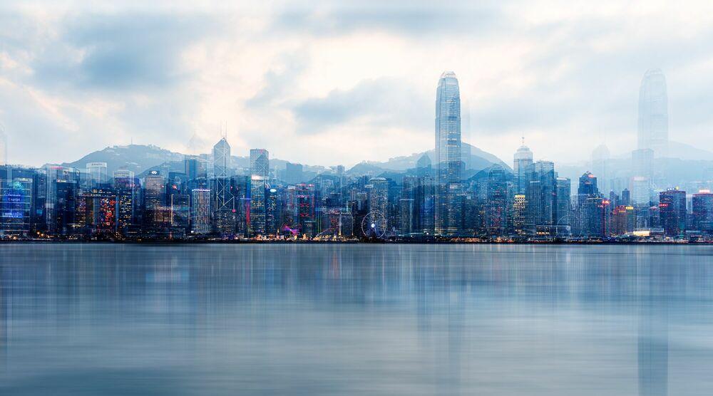 Fotografia HONG-KONG BLUE HOUR - LAURENT DEQUICK - Pittura di immagini