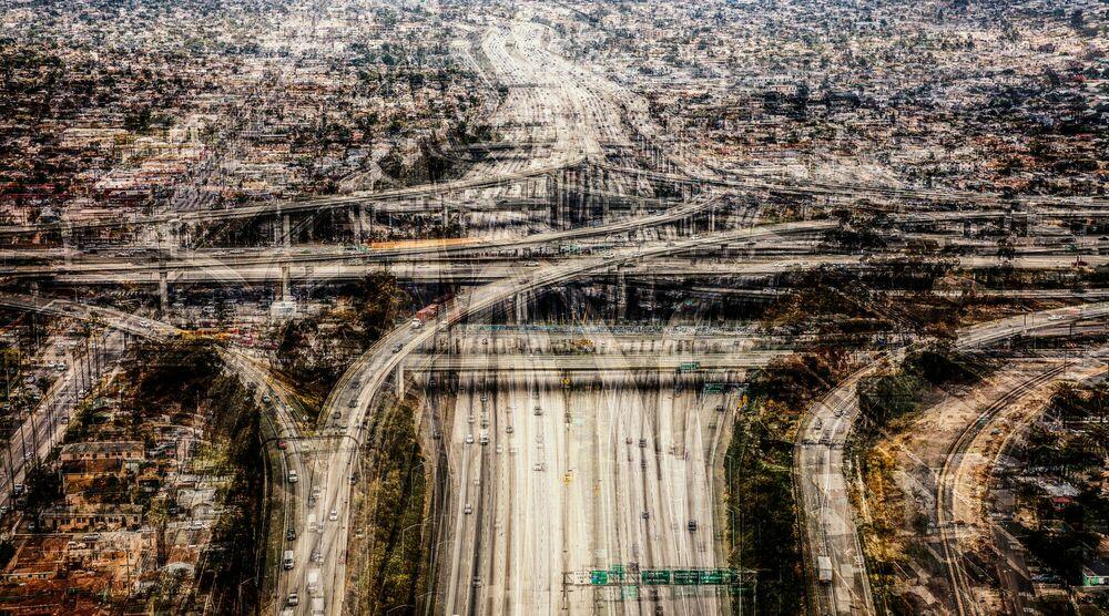 Fotografia I-405 _ I-105 INTERCHANGE - LAURENT DEQUICK - Pittura di immagini