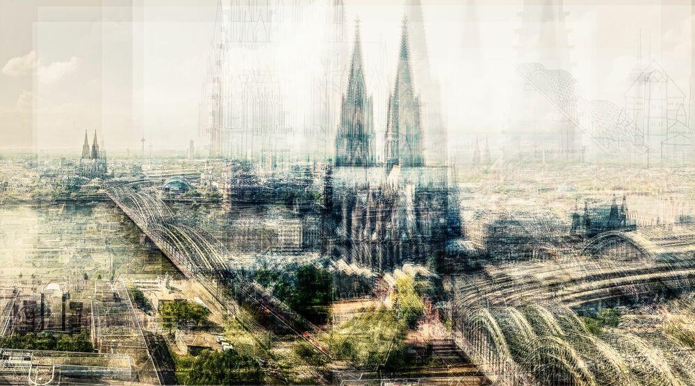 Photograph Köln Von Oben - LAURENT DEQUICK - Picture painting