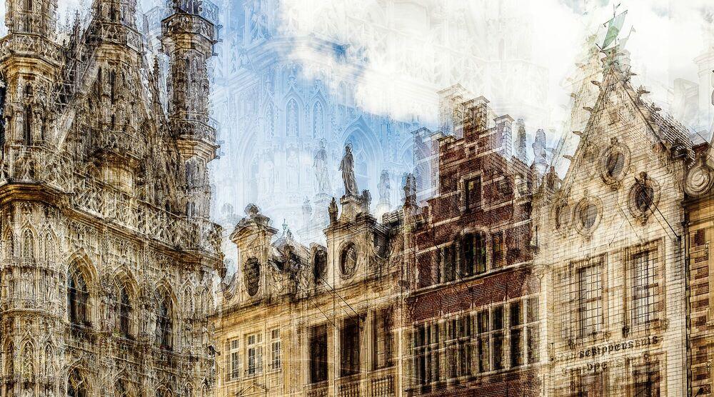 Fotografia LEUVEN GEVELS - LAURENT DEQUICK - Pittura di immagini