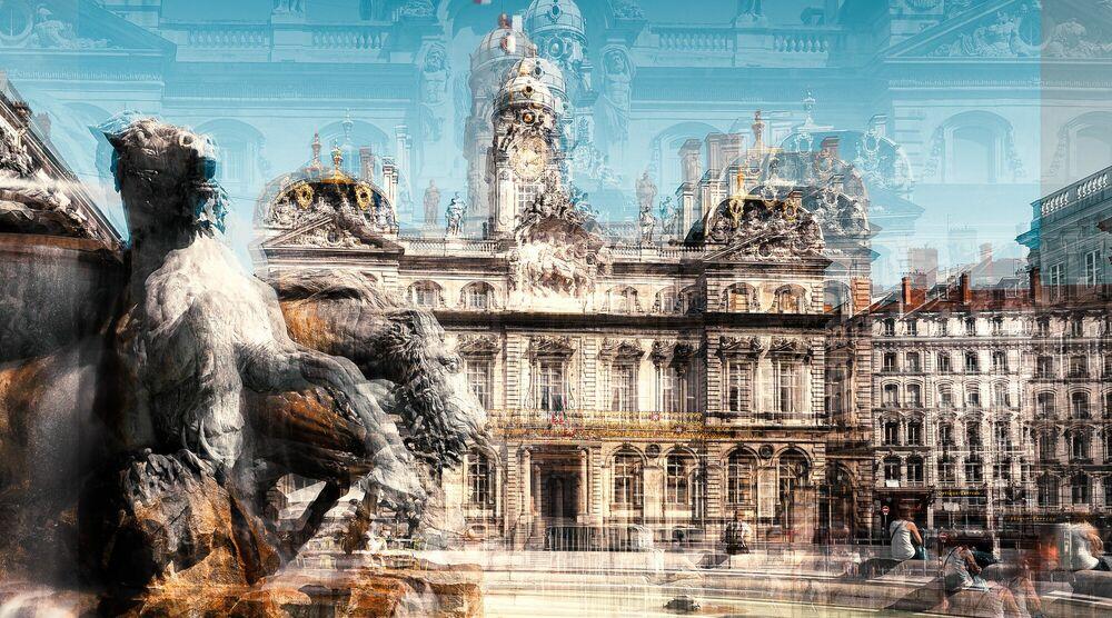 Photograph LYON  PLACE DES TERREAUX - LAURENT DEQUICK - Picture painting