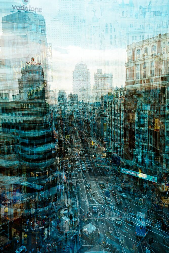 Fotografie Madrid Trafico - LAURENT DEQUICK - Bildermalerei