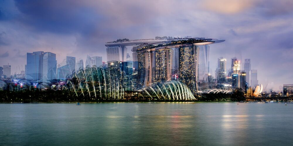 Fotografia Marina Bay Skyline - LAURENT DEQUICK - Pittura di immagini