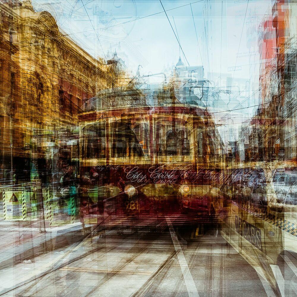 Fotografie Melbourne City Circle 981 - LAURENT DEQUICK - Bildermalerei