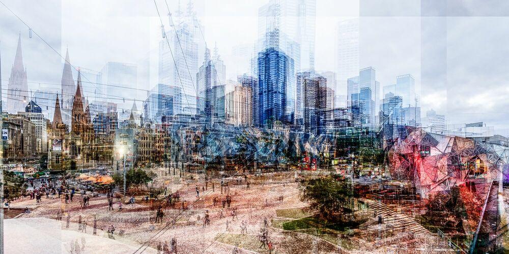 Photograph Melbourne Federation Square - LAURENT DEQUICK - Picture painting