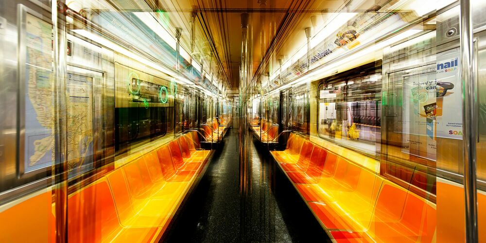 Photograph NY  7-TRAIN - LAURENT DEQUICK - Picture painting