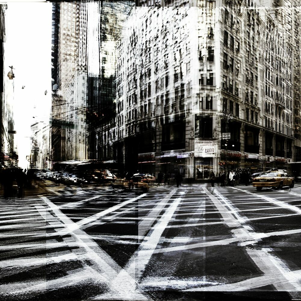 Fotografie NY Cross Road I - LAURENT DEQUICK - Bildermalerei