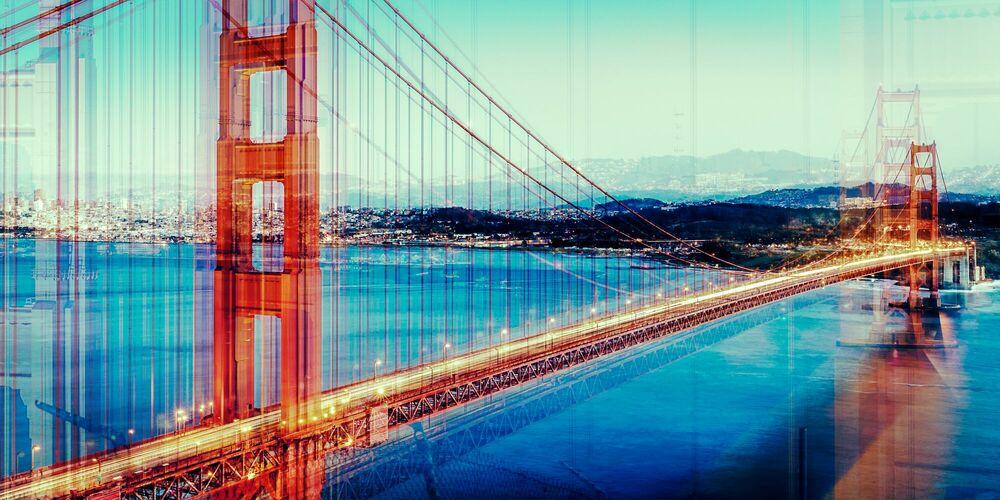 Fotografia ORANGE AND BLUE - LAURENT DEQUICK - Pittura di immagini