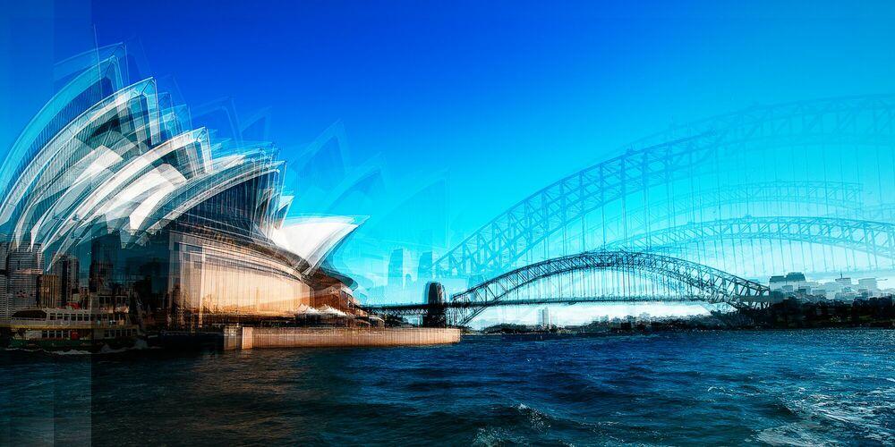 Fotografia Sailing Past the Opera House - LAURENT DEQUICK - Pittura di immagini
