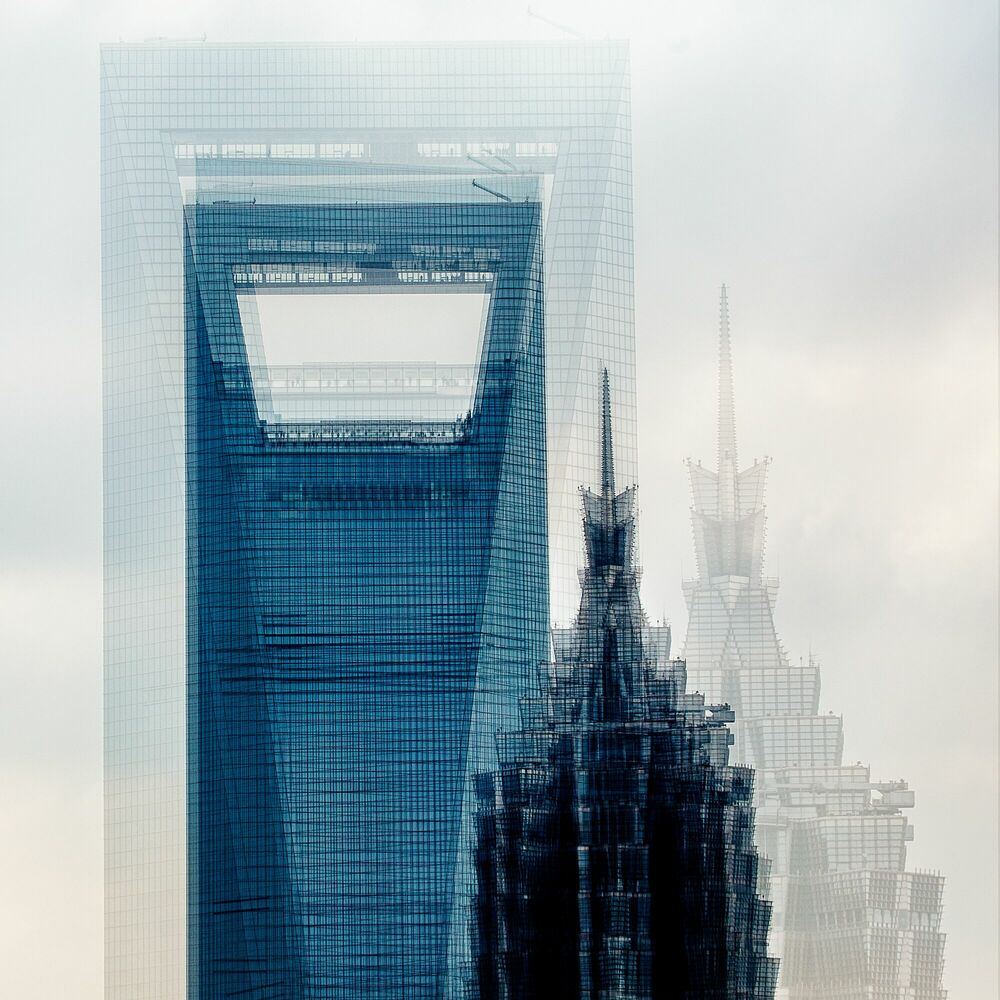 Fotografia SHANGHAI  THE TWO TOWERS - LAURENT DEQUICK - Pittura di immagini