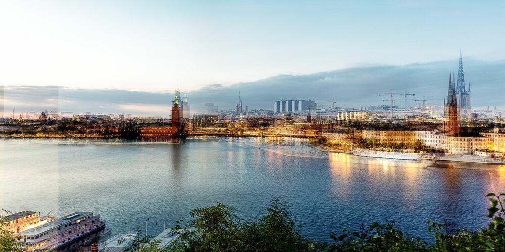 Photograph STOCKHOLM - BLUE HOUR - LAURENT DEQUICK - Picture painting