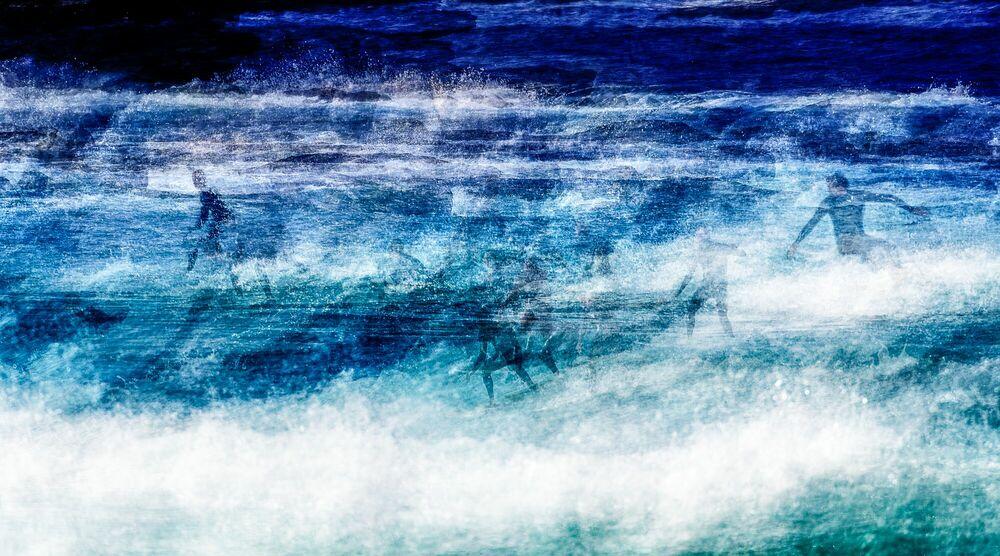 Photographie Surf Session at Bondi Beach - LAURENT DEQUICK - Tableau photo