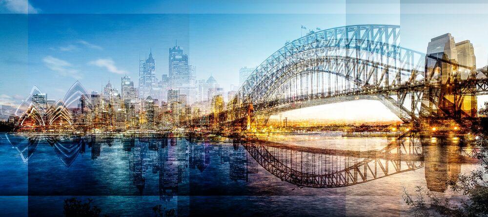 Photographie Sydney Blue Hour Skyline - LAURENT DEQUICK - Tableau photo