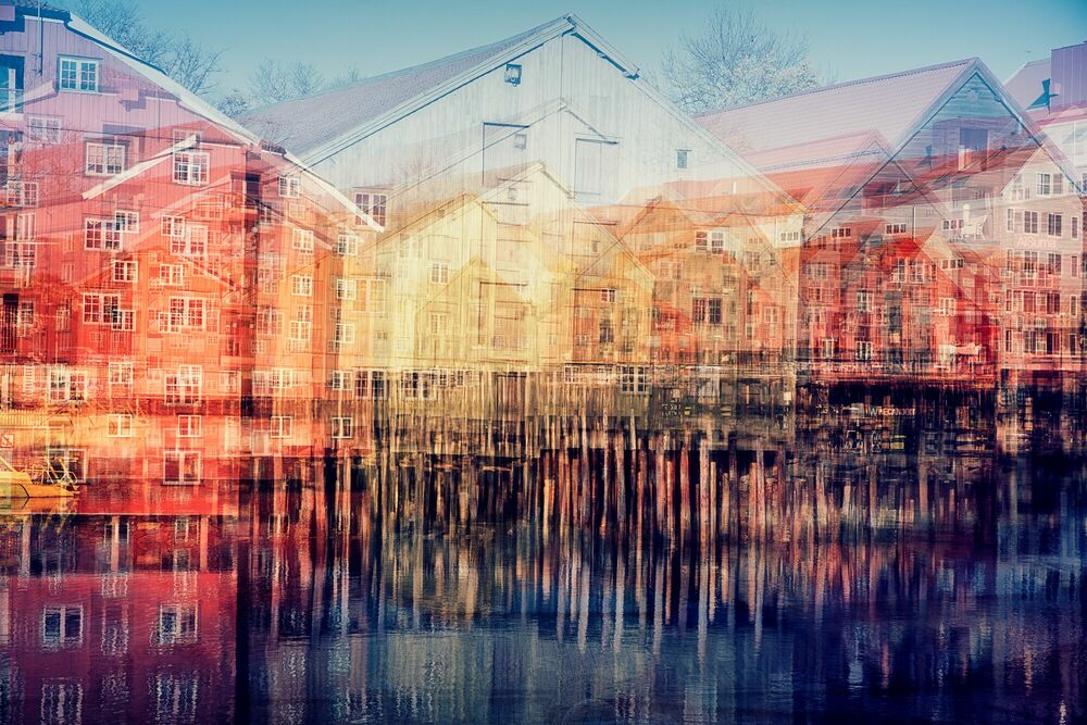 Photograph TRONDHEIM - THE WHARVES II - LAURENT DEQUICK - Picture painting